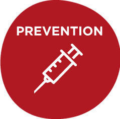 prevention icon with syringe on it