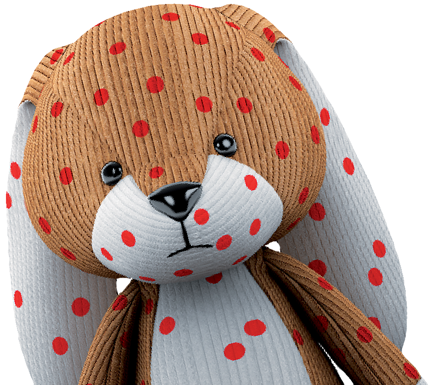 dotty the teddy bear with chickenpox
